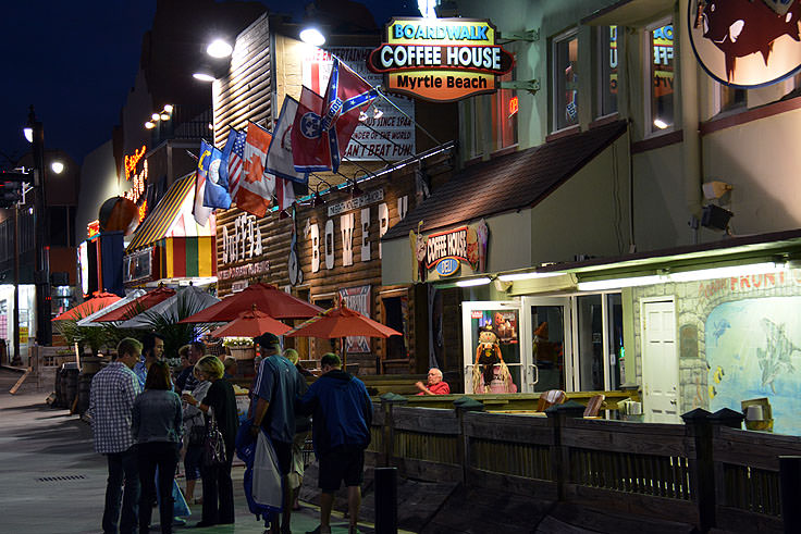 S And Restaurants Along The Myrtle Beach Boardwalk