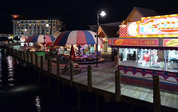 Amusements and concessions at Broadway at the Beach in Myrtle Beach, SC