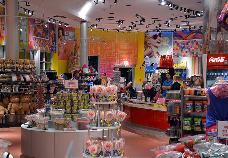 A candy store at Broadway at the Beach in Myrtle Beach, SC
