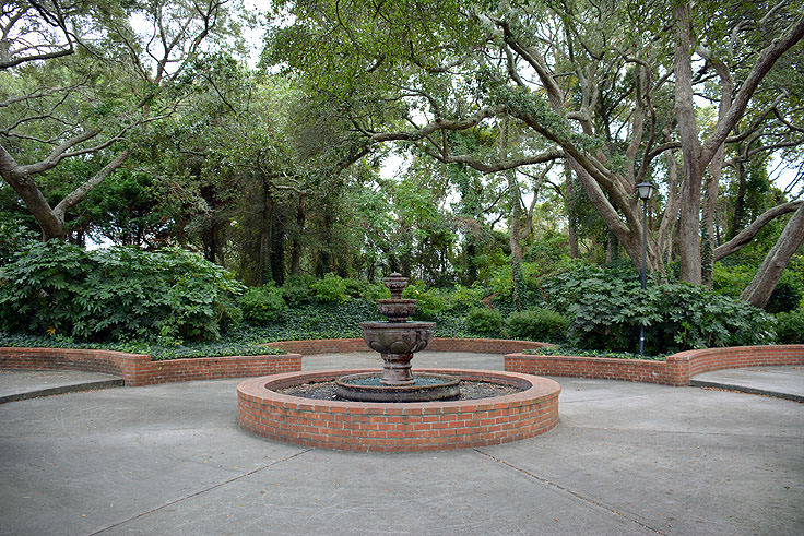 A pretty fountain at Mclean Park in Myrtle Beach, SC