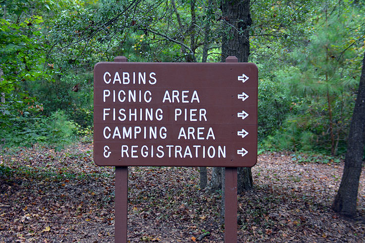 Directional sign at Myrtle Beach State Park