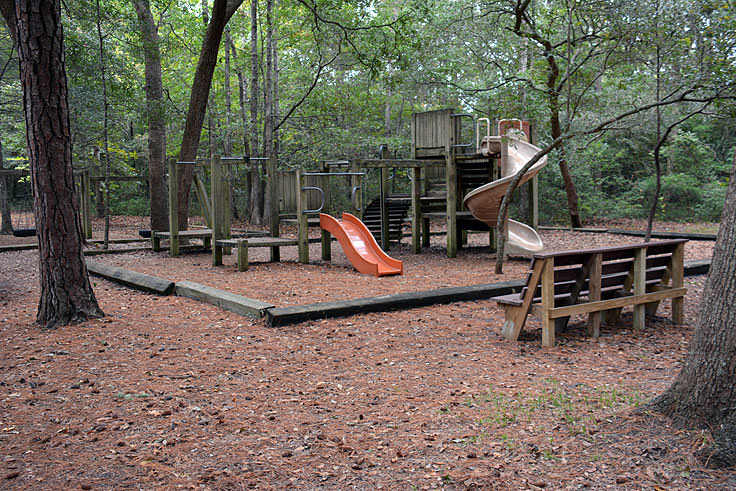 A playground at Myrtle Beach State Park