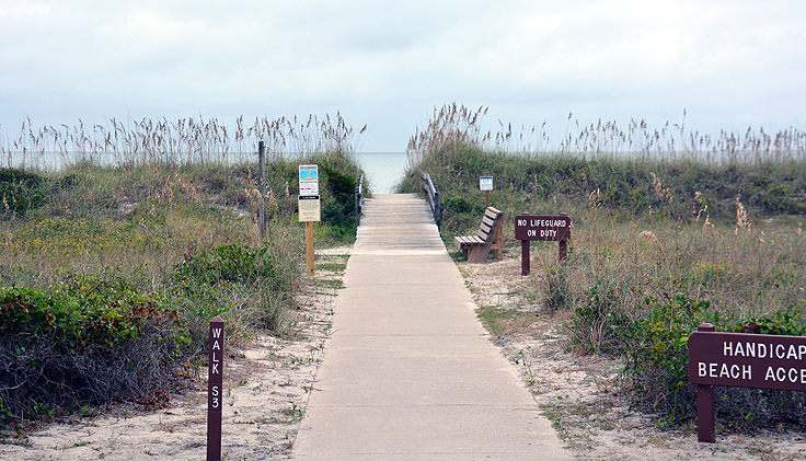 Special needs beach access at Myrtle Beach State Park