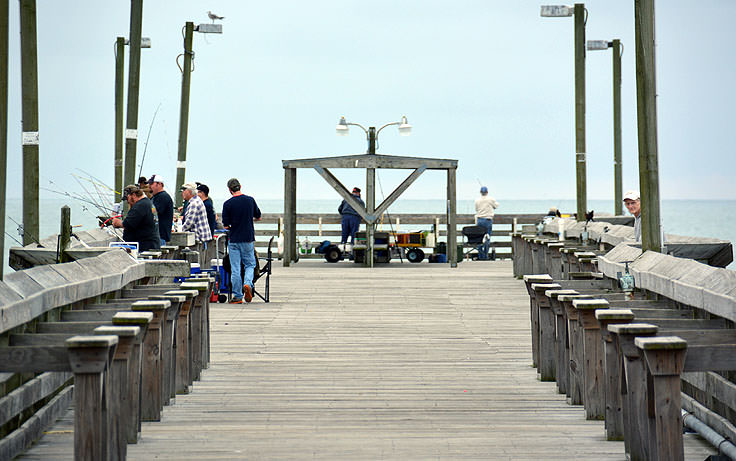 Fishing At Surfside Pier In Beach Sc
