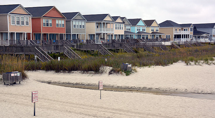 Homes Along The Beach In Surfside Sc