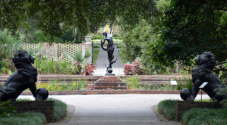 Sculpture gardens at Brookgreen Gardens in Murrell's Inlet, SC